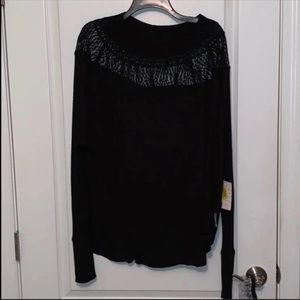 Free People Tops - NWT Free people curved hem knit top